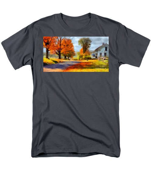 Autumn Landscape Men's T-Shirt  (Regular Fit) by Sergey Lukashin