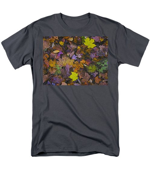 Autumn Leaves At Side Of Road Men's T-Shirt  (Regular Fit) by John Hansen