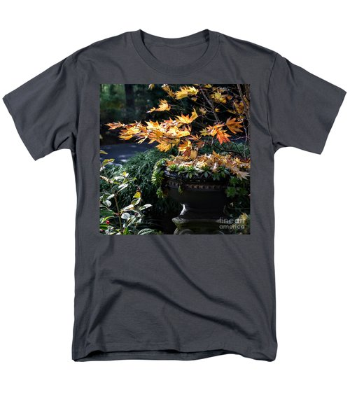 Men's T-Shirt  (Regular Fit) featuring the photograph Autumn Maple And Succulents by Tanya Searcy