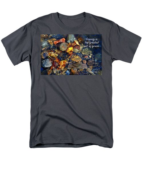 Men's T-Shirt  (Regular Fit) featuring the drawing Autumn Splash Grace by Diane E Berry