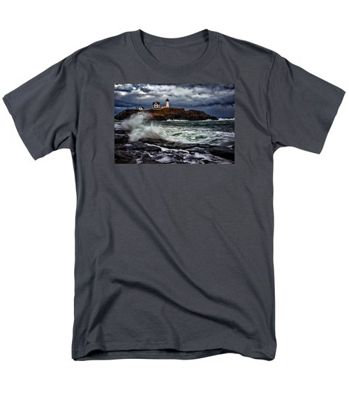 Autumn Storm At Cape Neddick Men's T-Shirt  (Regular Fit)