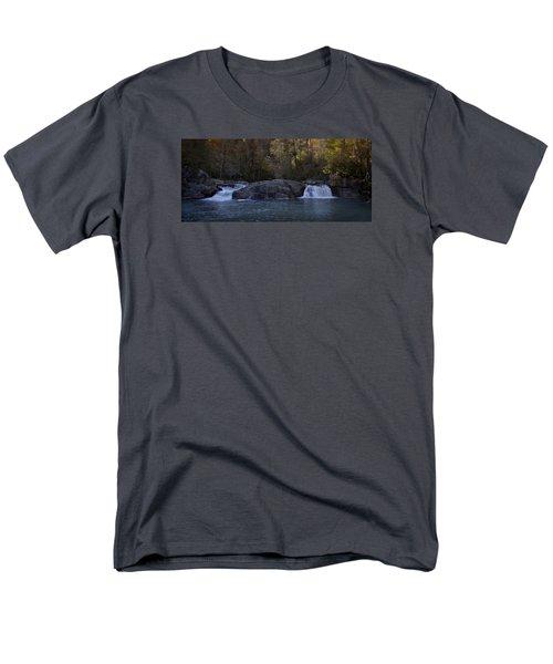 Men's T-Shirt  (Regular Fit) featuring the photograph Autumn Waterfall  by Ellen Heaverlo