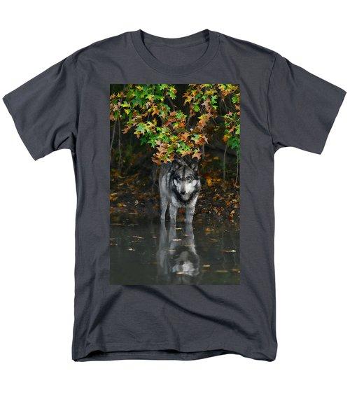 Autumn Wolf Men's T-Shirt  (Regular Fit) by Shari Jardina