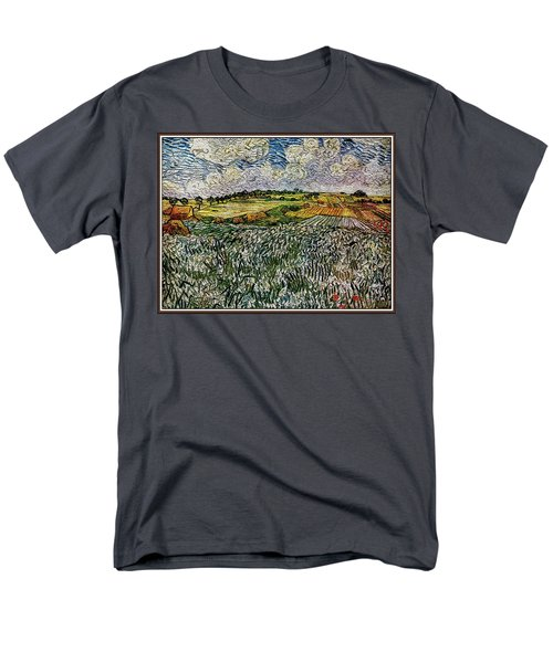 Landscape Auvers28 Men's T-Shirt  (Regular Fit) by Pemaro