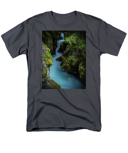 Avalanche Creek- Glacier National Park Men's T-Shirt  (Regular Fit) by John Vose