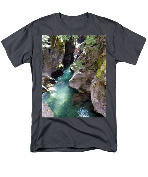 Avalanche Creek Glacier National Park Men's T-Shirt  (Regular Fit) by Marty Koch