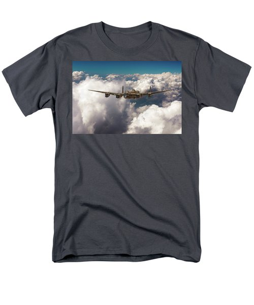 Men's T-Shirt  (Regular Fit) featuring the photograph Avro Lancaster Above Clouds by Gary Eason