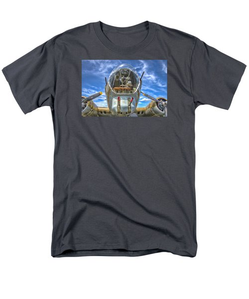 Men's T-Shirt  (Regular Fit) featuring the photograph B 17 Up Close by Gary Slawsky
