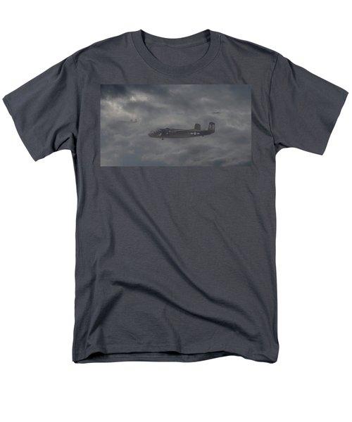 Men's T-Shirt  (Regular Fit) featuring the digital art B25 - 12th Usaaf by Pat Speirs