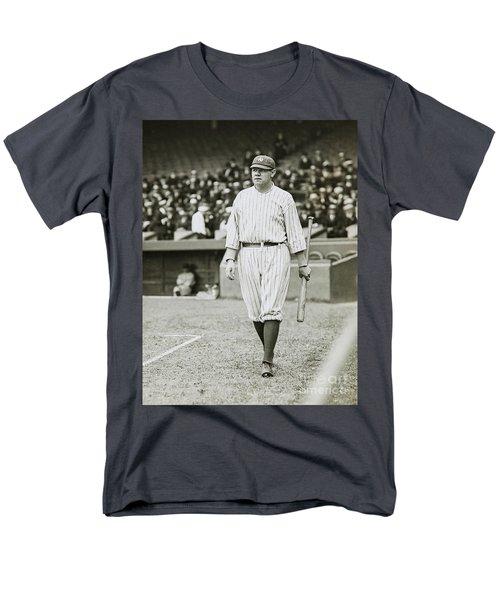 Babe Ruth Going To Bat Men's T-Shirt  (Regular Fit) by Jon Neidert