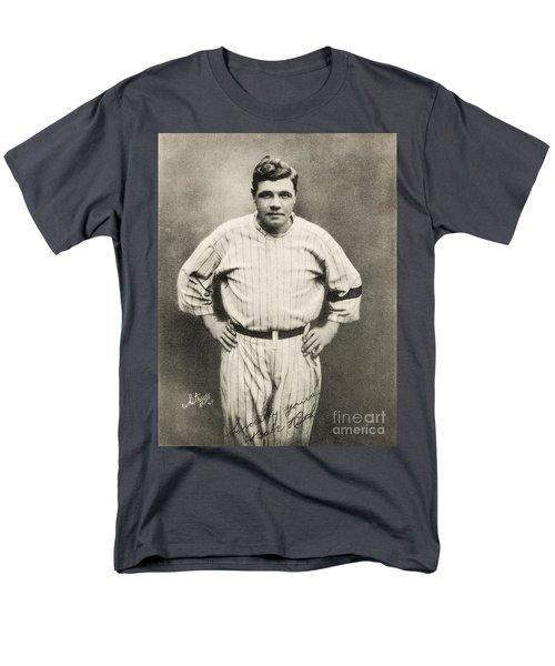 Babe Ruth Portrait Men's T-Shirt  (Regular Fit) by Jon Neidert