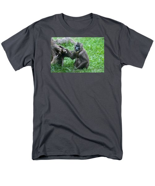 Men's T-Shirt  (Regular Fit) featuring the photograph Baboon by Monte Stevens