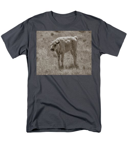 Men's T-Shirt  (Regular Fit) featuring the photograph Baby Buffalo by Rebecca Margraf