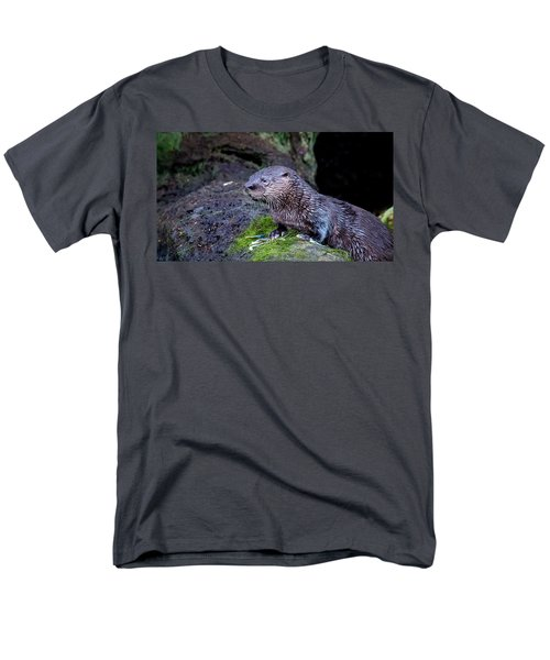 Men's T-Shirt  (Regular Fit) featuring the photograph Baby Otter by Kelly Marquardt