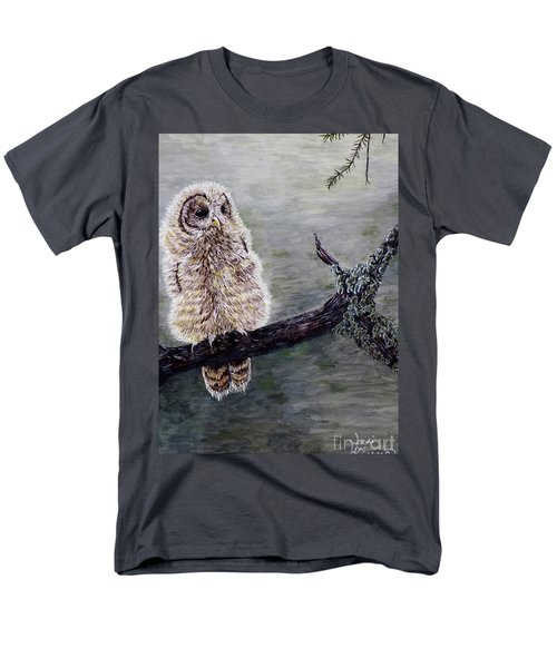 Baby Owl Men's T-Shirt  (Regular Fit) by Judy Kirouac