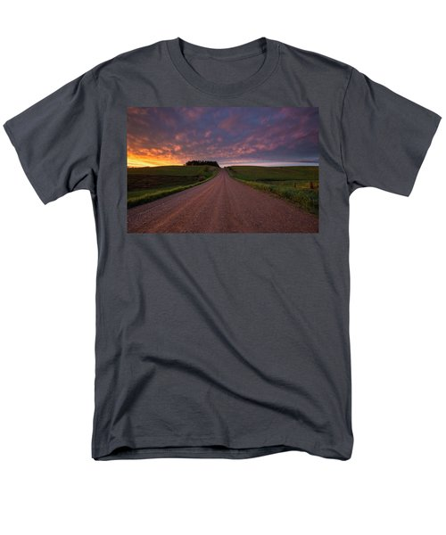Men's T-Shirt  (Regular Fit) featuring the photograph Backroad To Heaven  by Aaron J Groen
