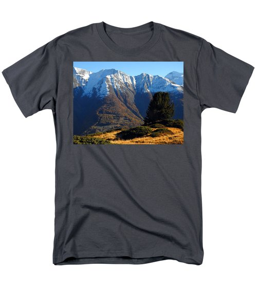 Baettlihorn In Valais, Switzerland Men's T-Shirt  (Regular Fit) by Ernst Dittmar