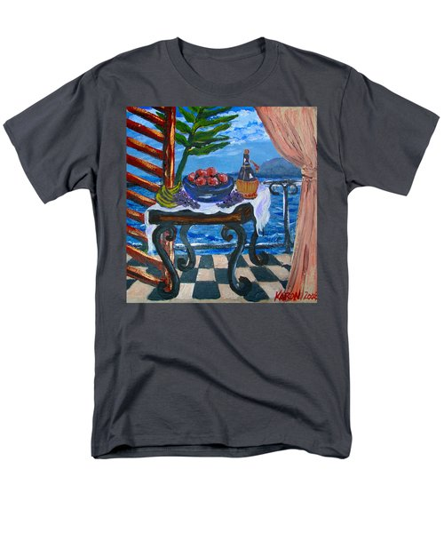 Balcony By The Mediterranean Sea Men's T-Shirt  (Regular Fit) by Karon Melillo DeVega