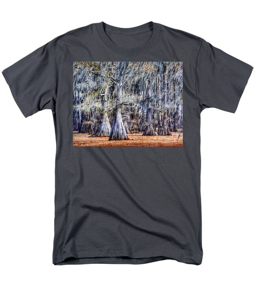 Men's T-Shirt  (Regular Fit) featuring the photograph Bald Cypress In Caddo Lake by Sumoflam Photography