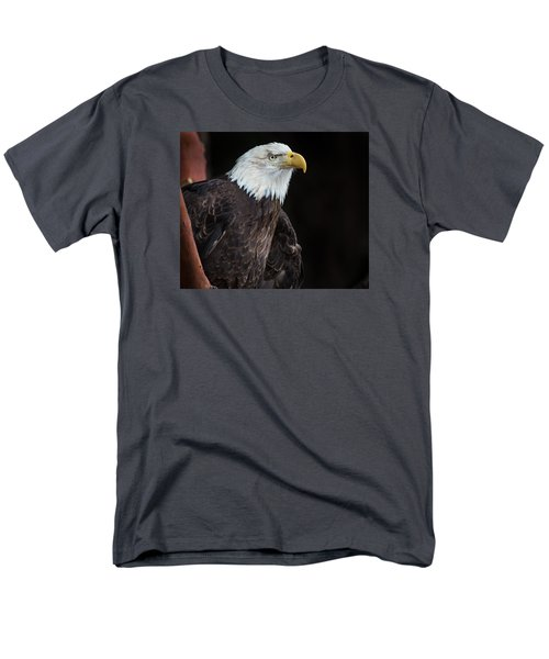 Bald Eagle Intensity Men's T-Shirt  (Regular Fit) by Greg Nyquist