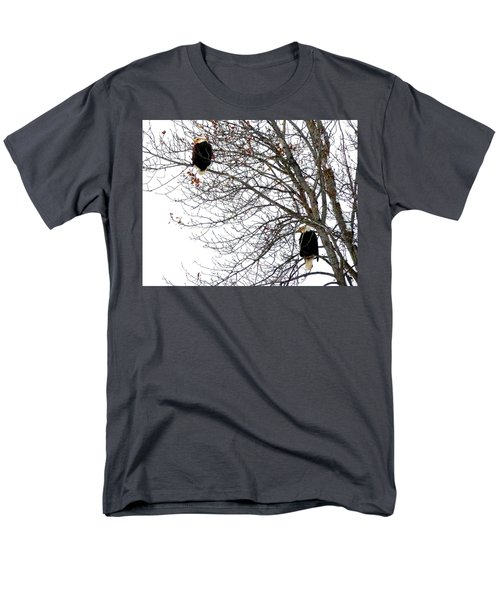 Men's T-Shirt  (Regular Fit) featuring the photograph Bald Eagle Pair by Will Borden