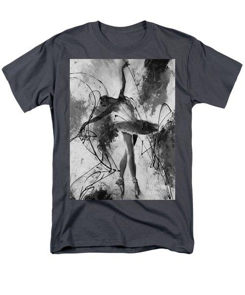 Ballerina Dance Black And White  Men's T-Shirt  (Regular Fit) by Gull G