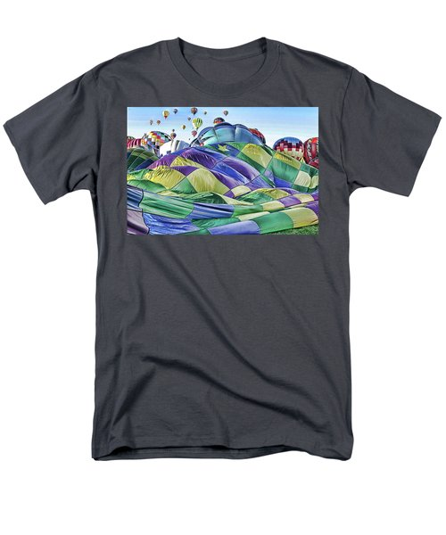 Men's T-Shirt  (Regular Fit) featuring the photograph Ballooning Waves by Marie Leslie