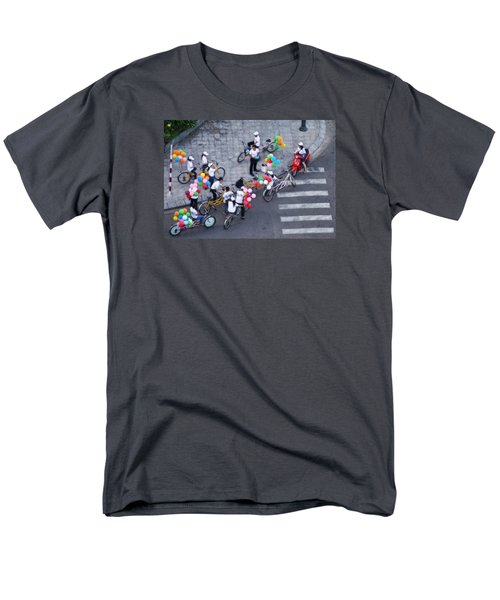 Men's T-Shirt  (Regular Fit) featuring the photograph Balloons And Bikes by Cameron Wood