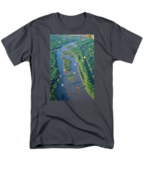Balloons Over The Rio Grande Men's T-Shirt  (Regular Fit) by Alan Toepfer