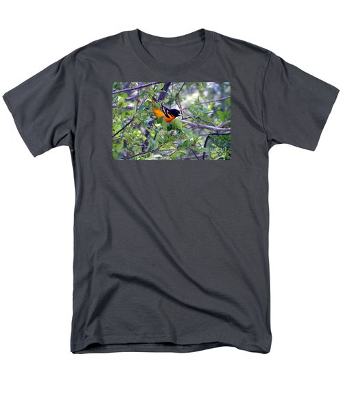 Baltimore Northern Oriole Men's T-Shirt  (Regular Fit) by Susan  Dimitrakopoulos