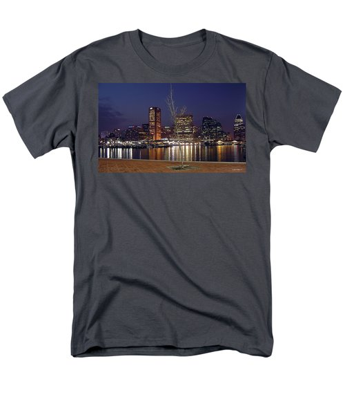 Men's T-Shirt  (Regular Fit) featuring the photograph Baltimore Reflections by Brian Wallace