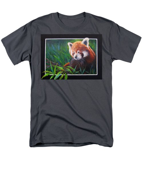 Bamboo Basking--red Panda Men's T-Shirt  (Regular Fit) by Mary McCullah