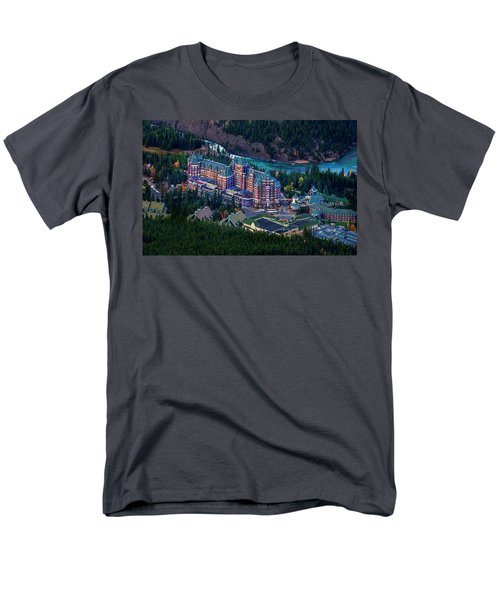 Men's T-Shirt  (Regular Fit) featuring the photograph Banff Springs Hotel by John Poon