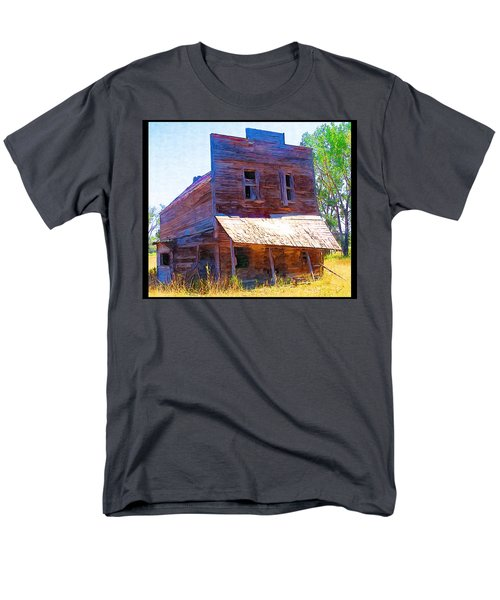 Men's T-Shirt  (Regular Fit) featuring the photograph Barber Store by Susan Kinney