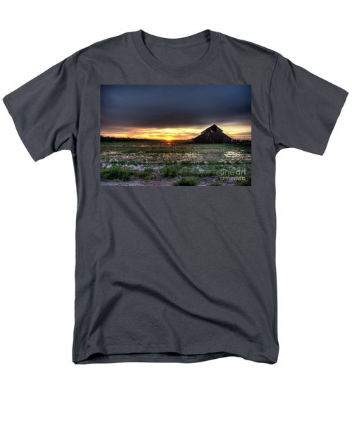 Men's T-Shirt  (Regular Fit) featuring the photograph Barn Sunrise by Jim and Emily Bush