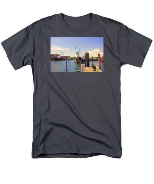 Men's T-Shirt  (Regular Fit) featuring the photograph Barnegat Light Fishing Fleet by John Rivera