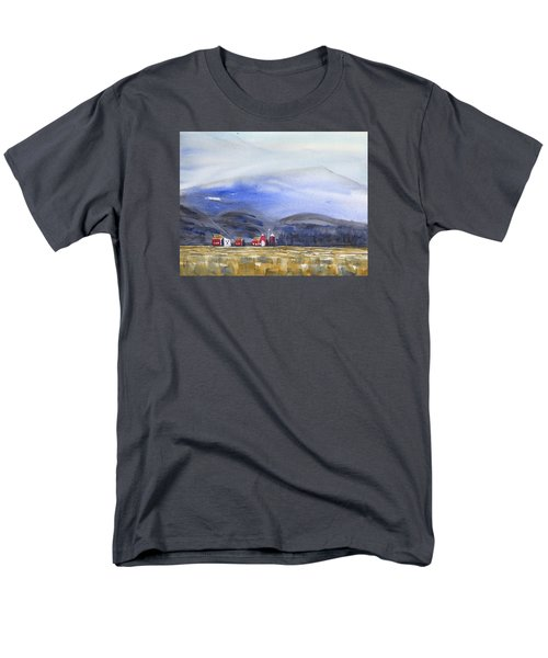 Barns In The Valley Men's T-Shirt  (Regular Fit) by Frank Bright