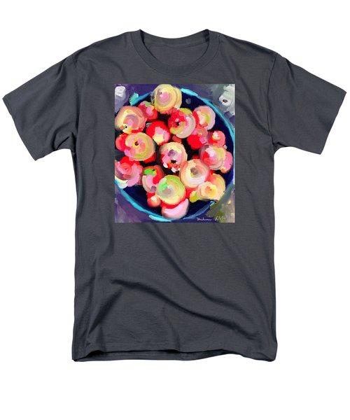 Basket Of Apples At Rockport Farmer's Market Men's T-Shirt  (Regular Fit) by Melissa Abbott