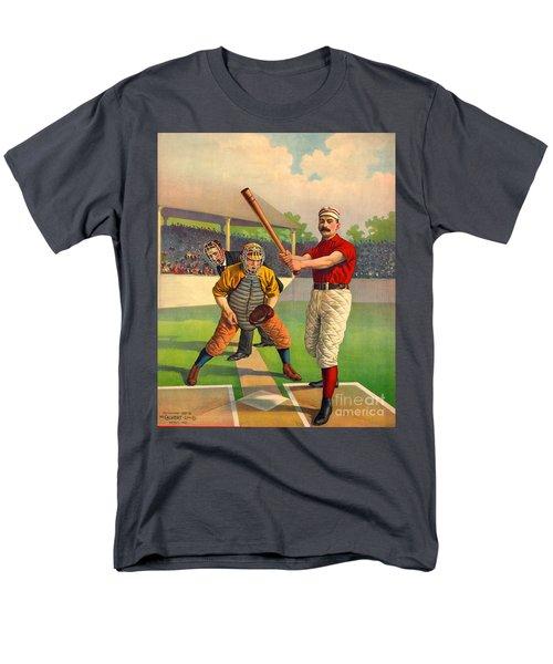 Batter Up 1895 Men's T-Shirt  (Regular Fit) by Padre Art