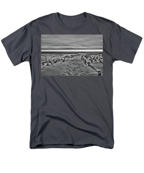 Beach Entry In Black And White Men's T-Shirt  (Regular Fit) by Paul Ward