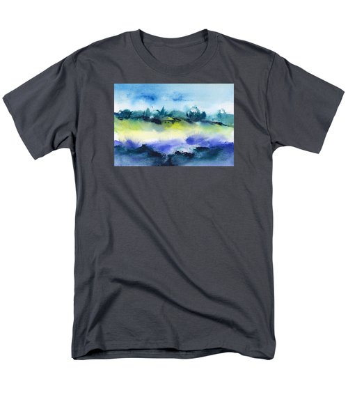 Beach Hut Abstract Men's T-Shirt  (Regular Fit) by Frank Bright