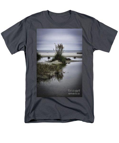 Men's T-Shirt  (Regular Fit) featuring the photograph Beach Island by Judy Wolinsky