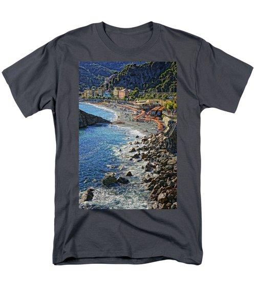 Beach Monterosso Italy Dsc02467 Men's T-Shirt  (Regular Fit) by Greg Kluempers
