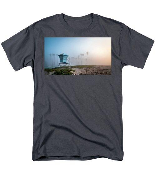 Men's T-Shirt  (Regular Fit) featuring the photograph Beach Office by Sean Foster