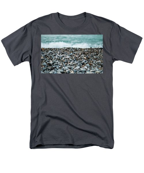 Men's T-Shirt  (Regular Fit) featuring the photograph Beach Pebbles by MGL Meiklejohn Graphics Licensing