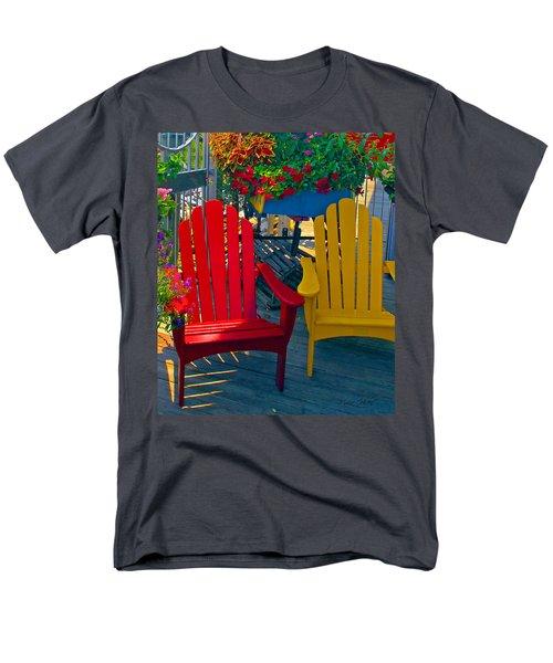 Beach Town Charm Men's T-Shirt  (Regular Fit) by Marie Hicks