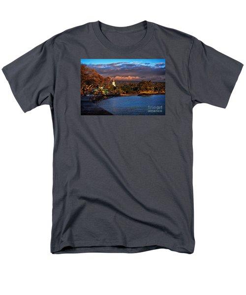 Beach Town Of Kailua-kona On The Big Island Of Hawaii Men's T-Shirt  (Regular Fit) by Sam Antonio Photography