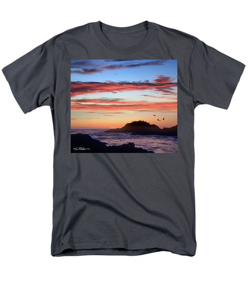Bean Hollow Beach Men's T-Shirt  (Regular Fit) by Tim Fitzharris