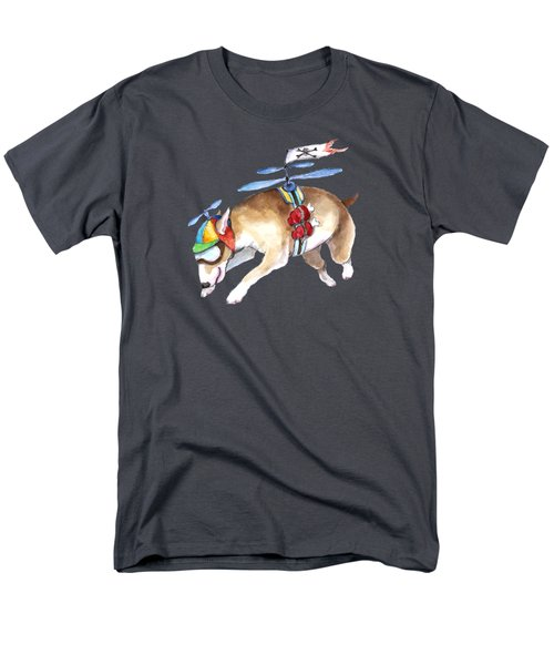 Men's T-Shirt  (Regular Fit) featuring the painting Beanie Bully  by Jindra Noewi