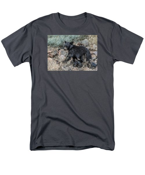 Bear Cub Walking Men's T-Shirt  (Regular Fit) by Stephen  Johnson